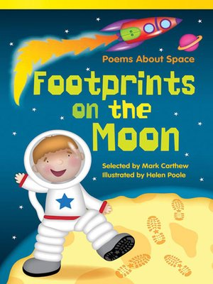 cover image of Poems About Space Footprints on the Moon