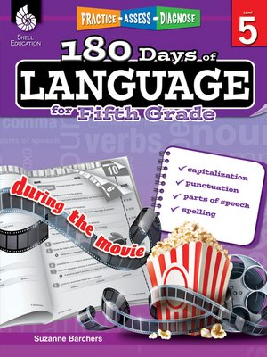 cover image of 180 Days of Language for Fifth Grade: Practice, Assess, Diagnose