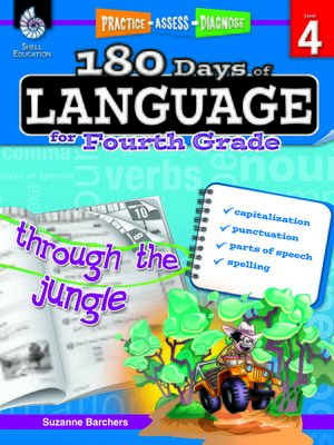 cover image of 180 Days of Language for Fourth Grade: Practice, Assess, Diagnose