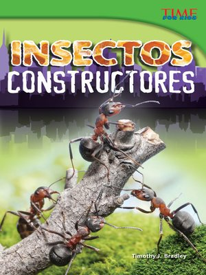 cover image of Insectos constructores