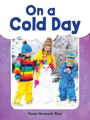 cover image of On a Cold Day