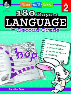 cover image of 180 Days of Language for Second Grade