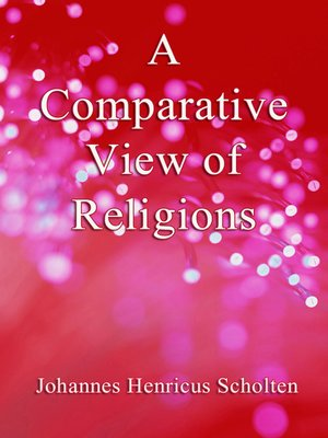 cover image of A Comparative View of Religions