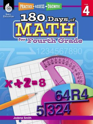 cover image of 180 Days of Math for Fourth Grade: Practice, Assess, Diagnose