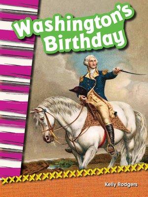 cover image of Washington's Birthday