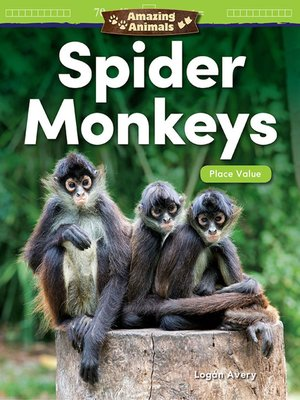 cover image of Amazing Animals Spider Monkeys: Place Value