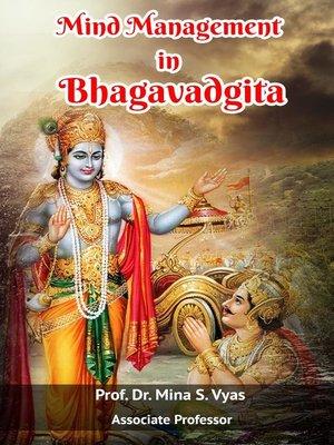 cover image of Mind management in Bhagavadgita