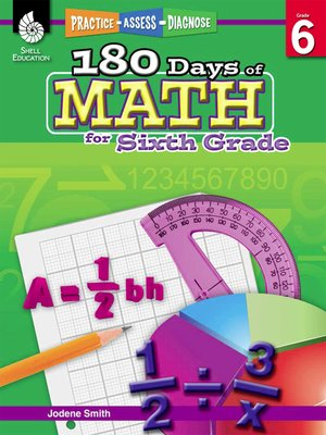 cover image of 180 Days of Math for Sixth Grade: Practice, Assess, Diagnose