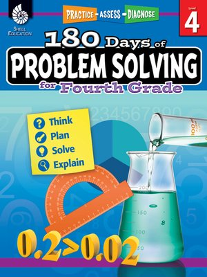 cover image of 180 Days of Problem Solving for Fourth Grade: Practice, Assess, Diagnose