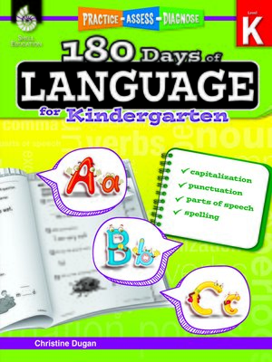 cover image of 180 Days of Language for Kindergarten: Practice, Assess, Diagnose