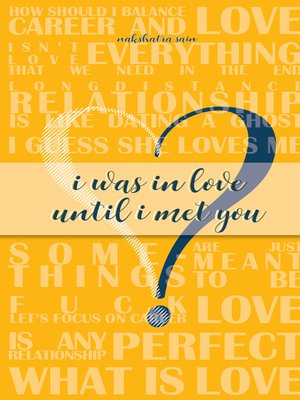 cover image of I Was in Love Until I Met You