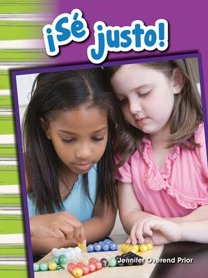 cover image of ¡Sé justo!