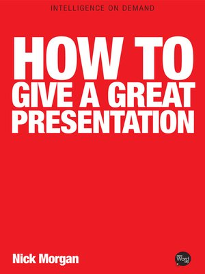 cover image of How to Give a Great Presentation