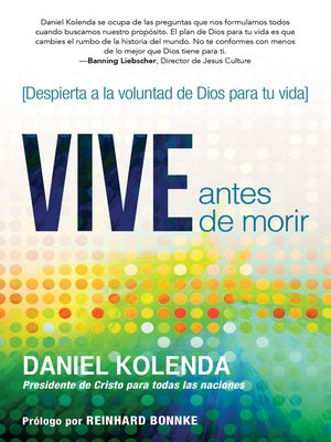 cover image of Vive antes de morir / Live Before You Die