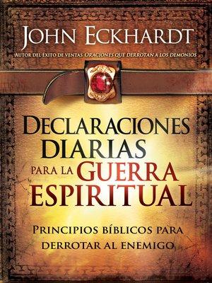 cover image of Declaraciones diarias para la guerra espiritual