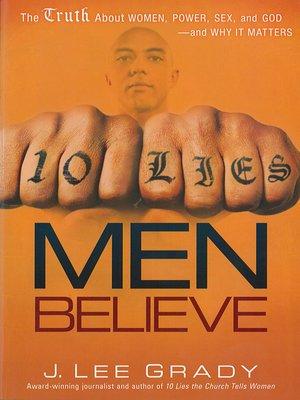 cover image of 10 Lies Men Believe