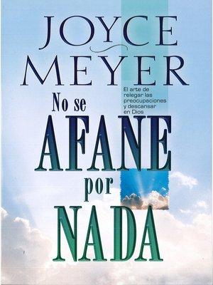 cover image of No se afane por nada
