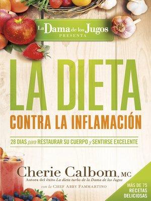 cover image of La Dieta contra la inflamación de la Dama de los Jugos