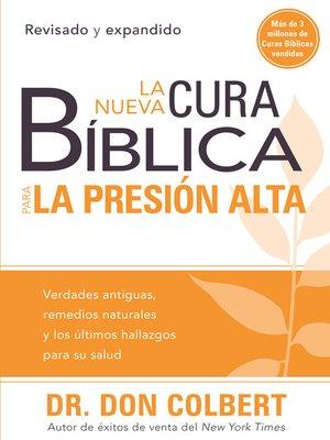 cover image of La nueva cura bíblica para la presión alta
