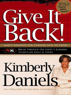 cover image of Give It Back!