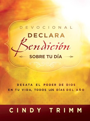 cover image of Devocional Declara bendición sobre tu día