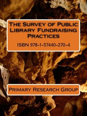 cover image of The Survey of Public Library Fundraising Practices