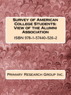 cover image of Survey of American College Students: View of the Alumni Association