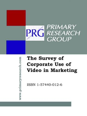 cover image of The Survey of Corporate Use of Video in Marketing
