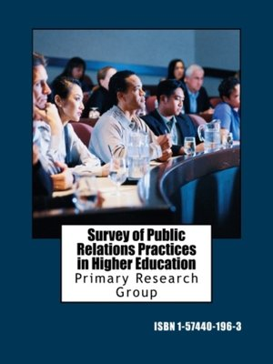 cover image of Survey of Public Relations Practices in Higher Education