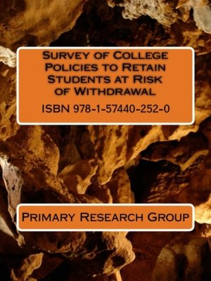 cover image of Survey of College Policies to Retain Students at Risk of Withdrawal