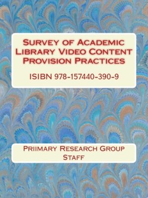 cover image of Survey of Academic Library Video Content Provision Practices