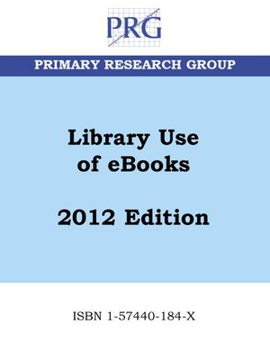 cover image of Library Use of eBooks
