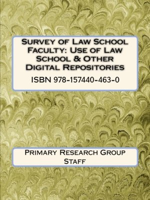cover image of Survey of Law School Faculty: Use of Law School & Other Digital Repositories