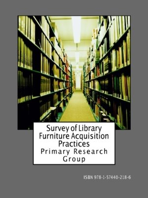 cover image of Survey of Library Furniture Acquisition Practices