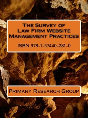 cover image of The Survey of Law Firm Website Management Benchmarks