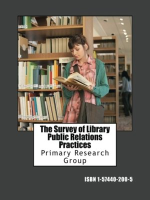 cover image of The Survey of Library Public Relations Practices