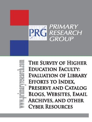 cover image of The Survey of Higher Education Faculty