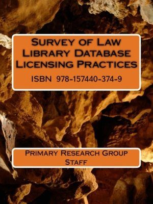 cover image of Survey of Law Library Database Licensing Practices