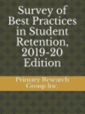 cover image of Survey of Best Practices in Student Retention, 2019-20 Edition
