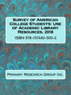 cover image of Use of Academic Library Resources