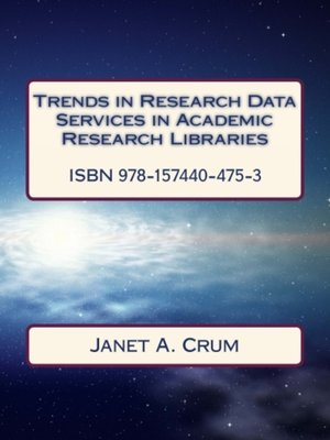 cover image of Trends in Research Data Services in Academic Research Libraries