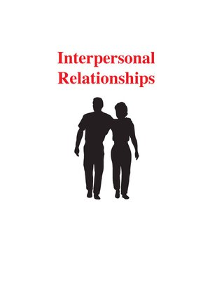 cover image of Interpersonal Relationships