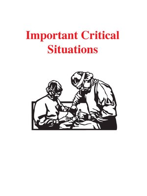 cover image of Important Critical Situations