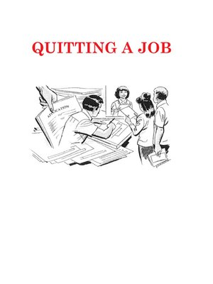 cover image of Quitting a Job