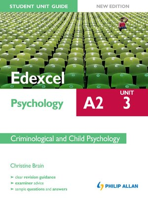 edexcel psychology unit 1 and 2 Read this essay and over 1,500,000 others like it now don't miss your chance to earn better grades and be a better writer.
