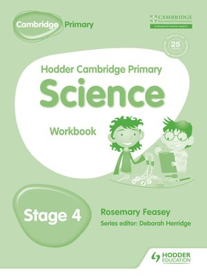cover image of Hodder Cambridge Primary Science Workbook 4