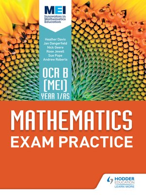 cover image of OCR B [MEI] Year 1/AS Mathematics Exam Practice