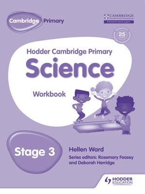 cover image of Hodder Cambridge Primary Science Workbook 3