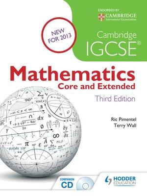 Core Mathematics For Igcse Pdf