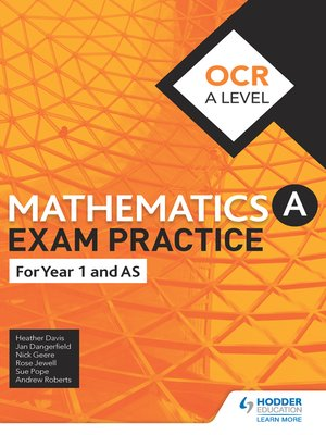 cover image of OCR Year 1/AS Mathematics Exam Practice